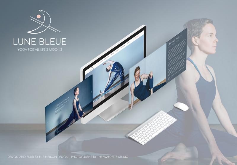 Lune Bleue Yoga fitness health yoga webdesign website logo design branding