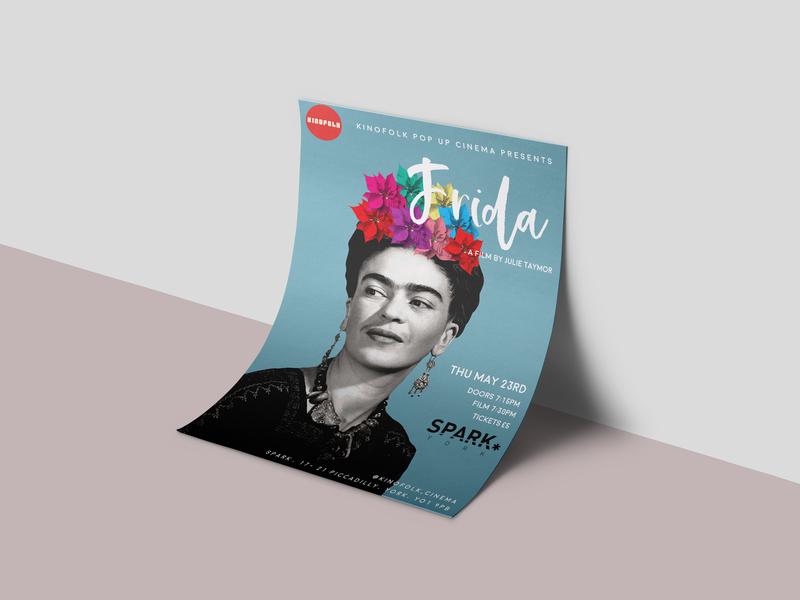 Frida Khalo Poster fridakahlo film poster design collage art collage poster design poster art poster flyer design