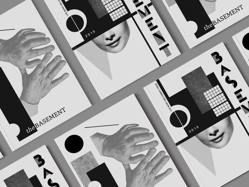 Basement Brochure Cover editorial design brochure design editorial collage art collage design