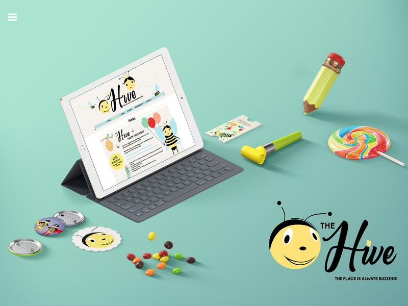 The Hive childrens illustration illustration logo website design webdesign branding design