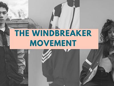 The Windbreaker Movement web presentation template presentation layout presentation design presentation design