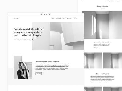 WordPress Portfolio Theme website design white space clean block editor gutenberg minimalism minimal monochrome bw portfolio wordpress theme wordpress