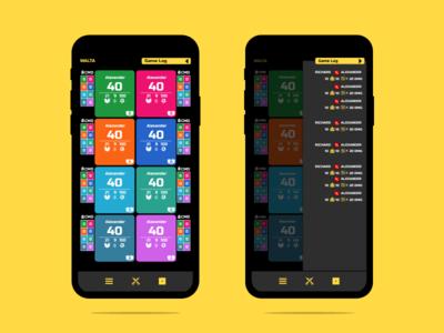 8 Player Screen & Game Log