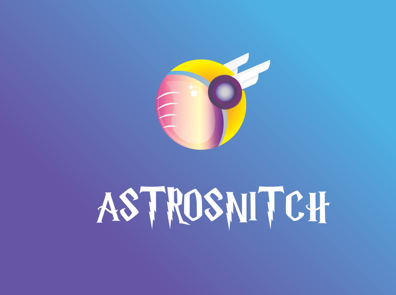 Astrosnitch Logo harrypotter astronaut snitch branding logo dribbble best shot dribbble vector design