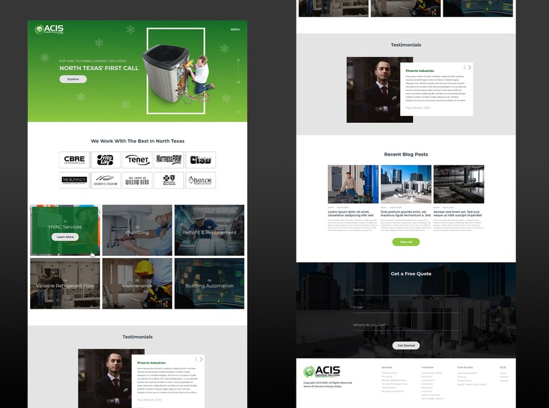 HVAC Services Website dribbble best shot design ux website ac repair texas hvac
