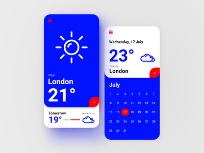 Weather App UI Concept