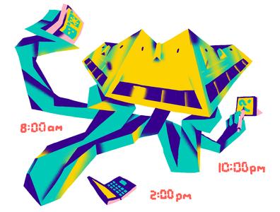 Quarantine Routine freelance brutalism character corona coronavirus routine schedule day self isolation lockdown covid quarantine everyday art daily illustration editorial illustration hand drawn doodle art illustration