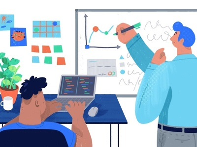 Web Illustrations for Tech Startup