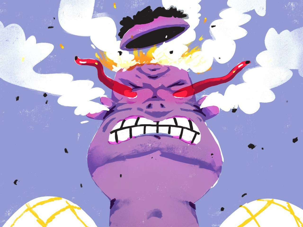 Anger sketch challenge everyday art daily illustration mental emotion character rage fury anger poster illustration procreate editorial illustration hand drawn doodle design art illustration