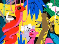 Oksanakurmaz mural jungle