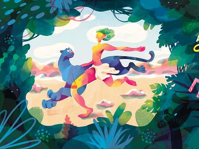 Promo Illustrations for Mykolaiv Zoo art billboard mykolaiv ukraine promo advertise urban totebag stickers t-shirt merch eco animals jungle book jungle mowgli zoo graphic design photoshop illustration