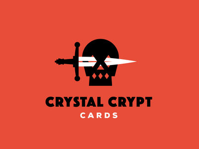 Crystal Crypt Cards red logo sword diamonds skull tcg cards