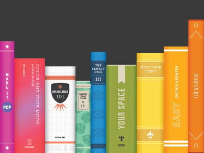 Books rainbow illustration reading color books