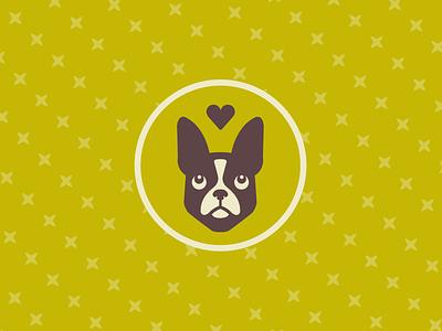 Puppy Love wedding badge pup doggy puppy dog boston terrier