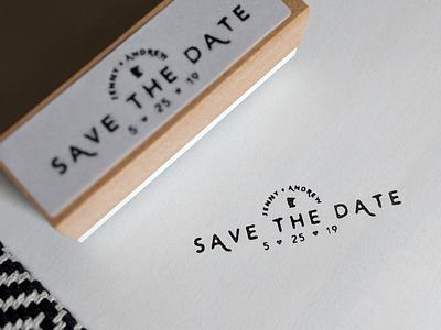 Wedding Save the Date Stamp invite save the date save homemade minnesota mn stamp wedding
