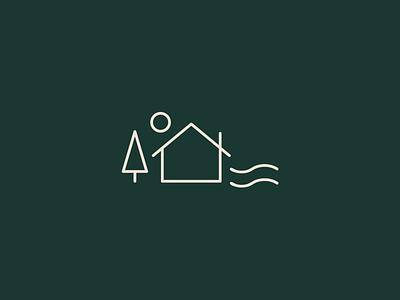 Northwoods minnesota mn north trees water house logo