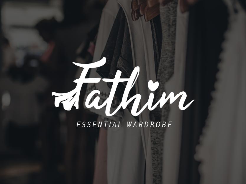 Logo Fathim for Wardrobe fashion design fashion brand wardrobe fashion company logo logo design branding