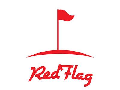 RedFlag Logo Design earth flag red branding identity design logo design