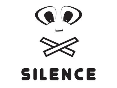 Silence Logo Design charity quiet silence eyes face branding identity design logo design