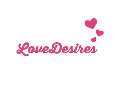 Love Desires Logo marriage hearts love logo pink branding identity design logo design