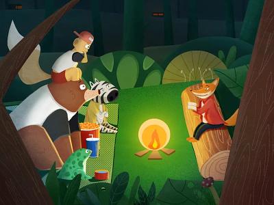 Animal Book Club😶😶😶 illustration