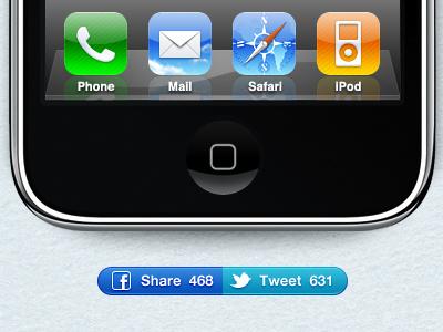 Share & Tweet buttons button social share tweet facebook twitter macpaw ensoul iphone