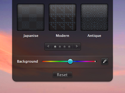 Simplified Hud hud colorpicker interface paginator vector antialiased text macpaw osx app