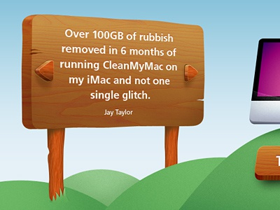 CleanMyMac Summer Landing Page macaw cleanmymac summer landing page web download grass plate