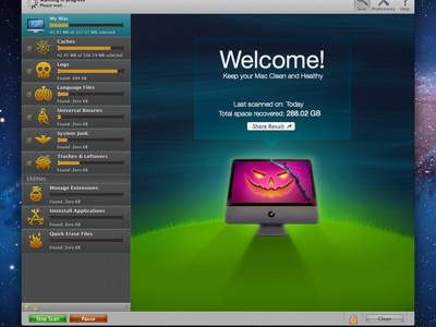 CleanMyMac Halloween Theme cleanmymac halloween theme icon illustration app osx app