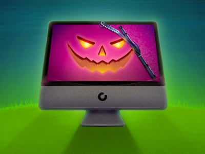 CleanMyMac Halloween Theme cleanmymac halloween theme icon illustration app osx app