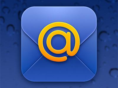 Icon for @mail.ru app icon ios mail blue orange