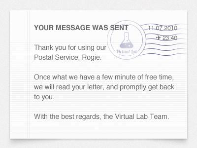 Message sending confirmation  message sending confirmation mail feedback about envelope stamp