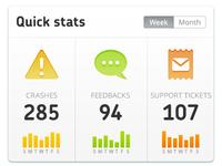 Devmate Quick Stats