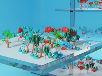 Part of lowpoly trees mega pack