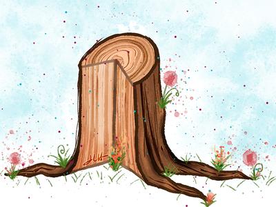 Painterly Vector Wood Texture – JLH