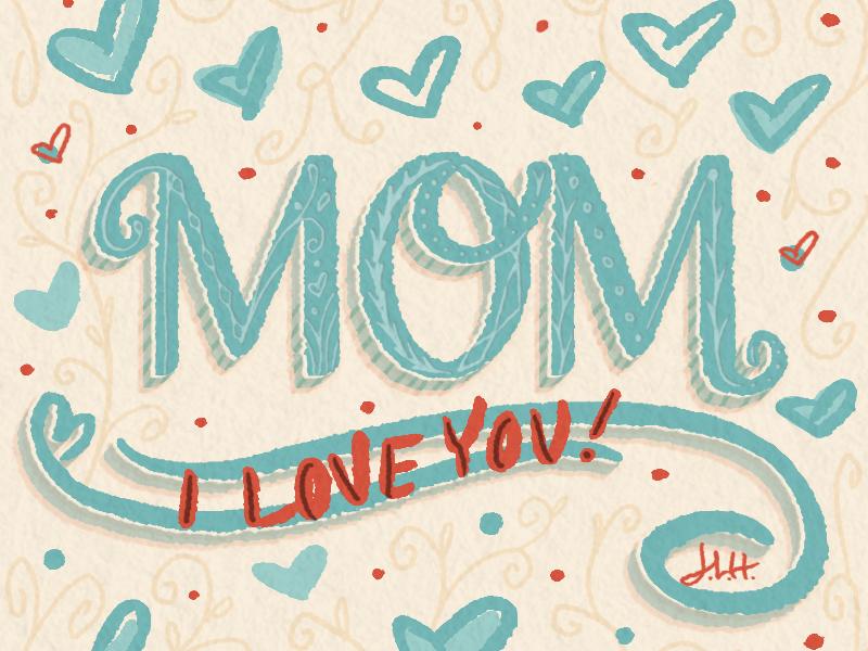 Mom brushes fonts greeting cards photoshop lettering modern lettering digital lettering digital art illustration modern script handlettering lettering