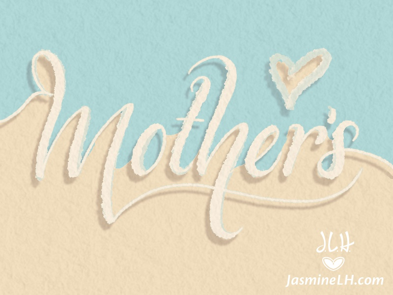 Mother's | Lettering video greeting card mothers day modern lettering modern script script lettering digital lettering digital art illustration hand-lettering lettering photoshop lettering