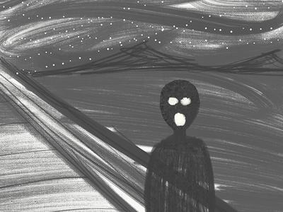 The Creepy Scream   Doodle