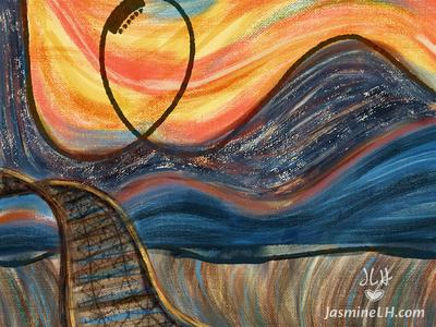 "Adobe Munch Contest   ""Scream Ride"" BG Detail"