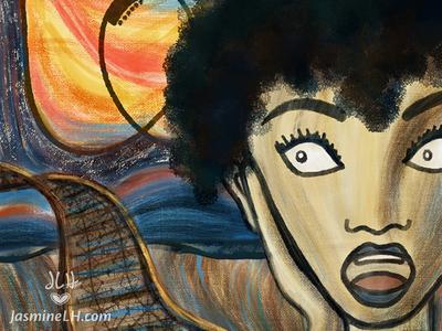 """Adobe Munch Contest   """"Scream Ride"""" Detail"""