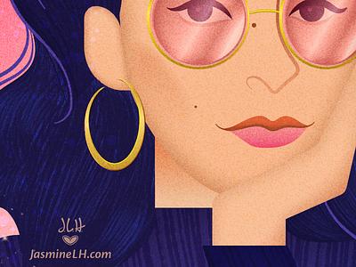Marly Gallardo Portrait • Closer | Adobe Live Entry entry behance contest adobe live vector art photoshop illustrator digital art drawing illustration