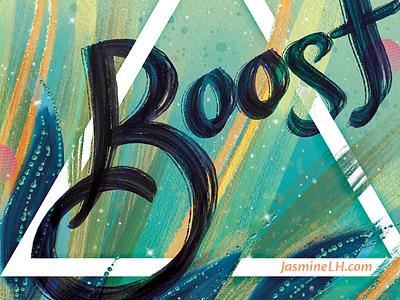Boost Zine 2018 | Cover Art lettering omaha zine fest ozf motivational inspiration digital painting foliage graphic design photoshop digital art illustration