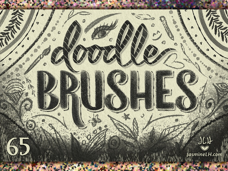 Doodle Brushes | Cover 1 brush script modern script script lettering digital lettering digital art illustration lettering photoshop doodle brush set brush pack photoshop brushes