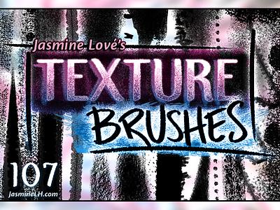 Grungy, Gorgeous, Diverse Texture Brushes! digital illustration texture brushes ipad art lettering illustration digital painting digital art grunge textures brush pack photoshop brushes photoshop