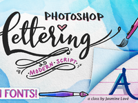 Learn Photoshop Lettering with Fonts!