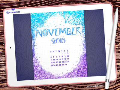 November 2018 Bullet Journal | iPad Pro