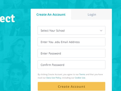 WIP Social Login ui ux website design social network login signup