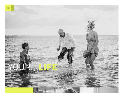 WIP Photographer Site ui ux yellow photography design homepage photographer scroll