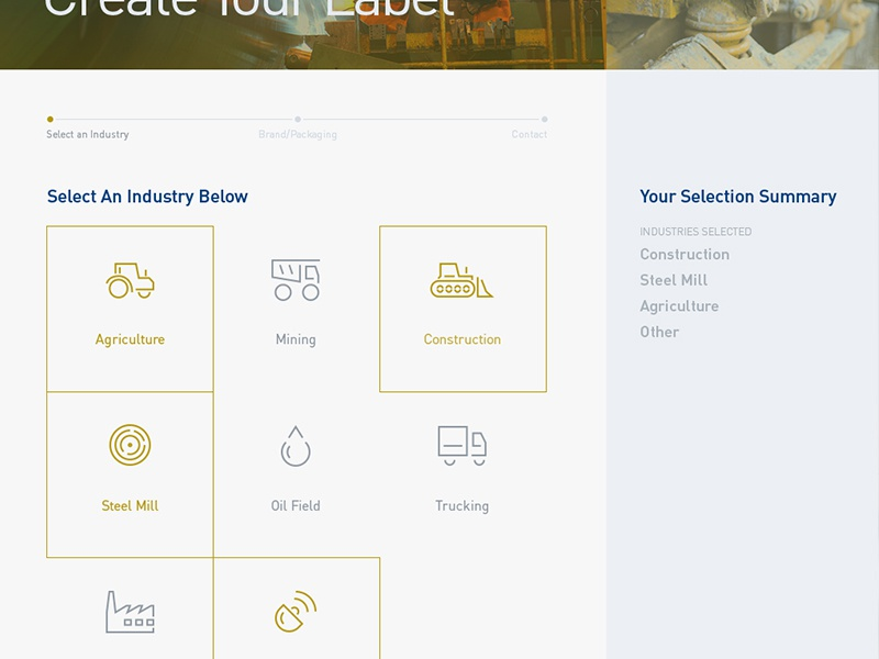 WIP Stepped Form ui ux design icons web form step blue yellow