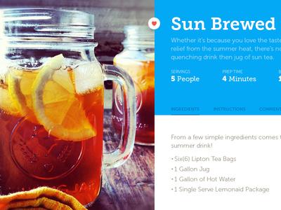 Wip Recipe Site design web responsive flat cookbook family fun recipe material